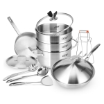 LXBF LXBF029 8 in 1 Stainless Steel Multifunctional Cooking Pot Set