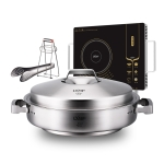 LXBF LX-YX30TZ 2 in 1 Steamer + Electro-ceramic Furnace Stainless Steel Multifunctional Cooking Pot Set