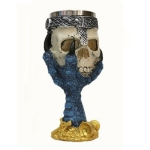 Hawk Claw Skull Shape Resin Double Layer Stainless Steel Goblet Water Cup (Blue)
