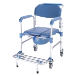 Elderly Toilet Seat Aluminum Alloy Wheelchair Pregnant Women Shower Chair with Wheels