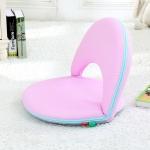 Multifunctional Folding Bed Backrest Waist Pregnant Women Breastfeeding Chair (Light Purple)