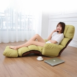 C5 Lazy Sofa Bed Bedroom Leisure Armrest Recliner Single Sofa Recliner (Green)