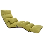 C1 Lazy Couch Tatami Foldable Single Recliner Bay Window Creative Leisure Floor Chair, Size:205x56x20cm (Green)