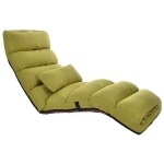 C1 Lazy Couch Tatami Foldable Single Recliner Bay Window Creative Leisure Floor Chair (Green)