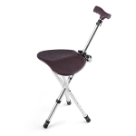 911B Outdoor Portable Folding Adjustable Aluminum Alloy Elderly Leisure Climbing Cane Stool with Seat & Cane