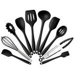 kn7050 10 in 1 Silicone Kitchen Tool Set(Black)