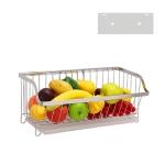 304 Stainless Steel Wall-mounted Kitchen Rack Hanging Vegetable Fruit Basket