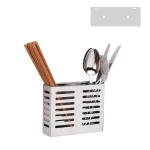 304 Stainless Steel Wall-mounted Kitchen Rack Hanging Knife Holder Double Cage Chopsticks Canister