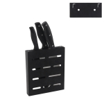 Stainless Steel Wall-mounted Kitchen Rack Hanging Kinfe Holder (Black)