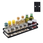 Stainless Steel Wall-mounted Kitchen Rack Hanging Seasoning Holder (Black)