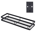 35cm Kitchen Punch-free Wall Mount Seasoning Storage Rack (Black)