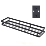 50cm Kitchen Punch-free Wall Mount Seasoning Storage Rack (Black)
