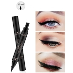 QIC Q614 Double Head Seal Black Eyeliner Long-lasting Waterproof Eye Liner, Size: S