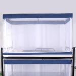 Student Dormitory Square Ceiling Zipper Mosquito Net Encryption Zipper Three Door Defence Mosquito for Upper Berth(Blue)