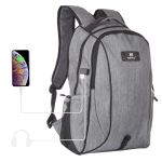 HAWEEL Outdoor Portable Canvas Dual Shoulders Laptop Backpack (Grey)