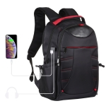 HAWEEL Foldable Removable Outdoor Portable Dual Shoulders Laptop Backpack (Black)