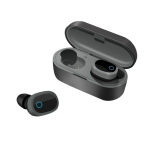 TWS-1003 Bluetooth 5.0 Semi-in-ear Design Wireless Bluetooth Earphone (Black)