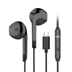 Langsdom V6T HIFI Type-C Wired Stereo Earphone (Black)