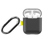 For Apple AirPods 1 / 2 Baseus Let's go Woven Label Hook Protective Case (Black)
