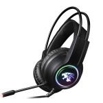 HAMTOD V9000 RGB Colorful Glow 7.1-channel Wired Gaming Headset with Microphones, Cable Length: 2.1m