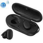 DT-7 IPX Waterproof Bluetooth 5.0 Wireless Bluetooth Earphone with 300mAh Magnetic Charging Box, Support Call(Black)
