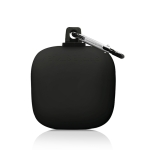 For Beats Powerbeats Pro Wireless Earphone Protective Case Shockproof Solid Color Silicone Storage Box (Black)