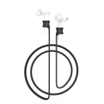 For Xiaomi Air Earphone Silicone Lanyard Anti-lost Rope (Black)