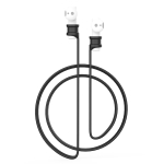For Xiaomi Air 2 Earphone Silicone Lanyard Anti-lost Rope (Black)