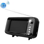 MB-8 Retro TV-shaped Subwoofer Bluetooth Speaker with Mobile Phone Stand Function, Supports Hands-free Calling & FM & U Disk & TF Card (Black)