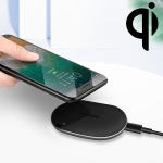 10W Max Fast Charging ABS Pad Qi Standard Wireless Charger with Indicator Light