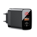 Baseus Mirror Lake Series CCJMHC 18W PPS Digital Display Quick Charger, A+C, EU Plug (Black)
