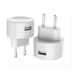 T008 Single USB Port Charger Power Adapter, EU Plug (Color: White)