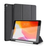 For iPad 10.2 DUX DUCIS Domo Series Horizontal Flip Magnetic PU Leather Case with Three-folding Holder & Pen Slot & Sleep / Wake-up Function (Black)