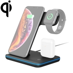 Z5 QI Vertical Magnetic Wireless Charger for Mobile Phones & Apple Watches & AirPods / Xiaomi Redmi AirDots, with Touch Ring Light (Black)