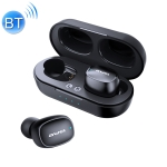 awei T13 Bluetooth V5.0 Ture Wireless Sports Headset with Charging Case (Black)