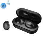 awei T16 Bluetooth V5.0 Ture Wireless Sports Headset with Charging Case (Black)
