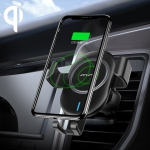 ipipoo WP-2 Qi Standard Wireless Charger Gravity Sensing Car Air Outlet Phone Holder, Suitable for 4.7 – 6.0 inch Smartphones