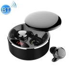 HAMTOD X30 IPX5 Waterproof Touch Wireless Bluetooth Earphone with Magnetic Charging Box & Smart Digital Display, Support Wireless / Wired Charging & Call(Black)