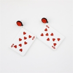2 Pairs Women Fashion Acrylic Poker Earrings
