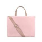 PU Waterproof Laptop Handbag Crossbody Bag for 14.1 inch Laptops (Pink)