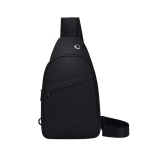 Large Capacity Multi-functional Waterproof 10 inch Chest Bag Shoulder Bag Crossbody Bag (Black)