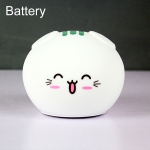 0.8W Cute Cartoon Cat Silicone Colorful Energy-saving Night Light Led Desk Lamp, Battery Version