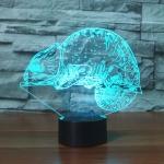 Chameleon Shape 3D Colorful LED Vision Light Table Lamp, Crack Remote Control Version