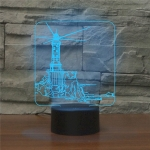 Lighthouse Shape 3D Colorful LED Vision Light Table Lamp, USB Touch Version
