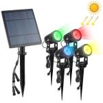 A108 4 PCS RGB LED Solar Power Lamp