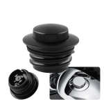 Motorcycle Flush Pop-up Gas Cap with O-ring for Harley Davidson (Black)