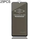 25 PCS MIETUBL For Galaxy A70 Anti-glare Full Screen Tempered Glass Film (Black)