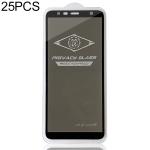 25 PCS MIETUBL For Galaxy J4 Plus / J6 Plus Anti-glare Full Screen Tempered Glass Film (Black)
