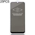 25 PCS MIETUBL For Galaxy M30 Anti-glare Full Screen Tempered Glass Film (Black)