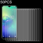 50 PCS For Cubot C15 Pro 2.5D Non-Full Screen Tempered Glass Film